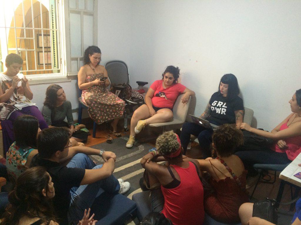 Reunião da Feminicidade na sede do Atados